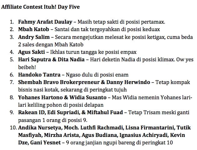 ItuhDayFive