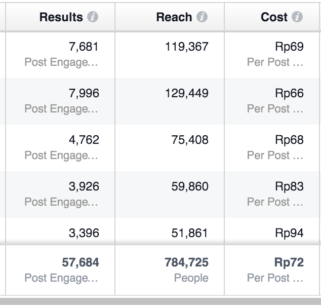 FB Ads Results